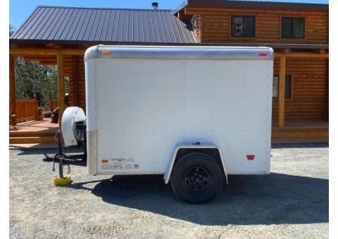 5x8 Enclosed trailer with rear ramp door